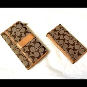 Coach matching wallet and checkbook holder